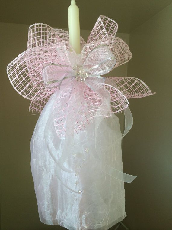 Baptism candle Etsy listing at https://www.etsy.com/listing/177735746/girls-christening-candle-baptism-candle