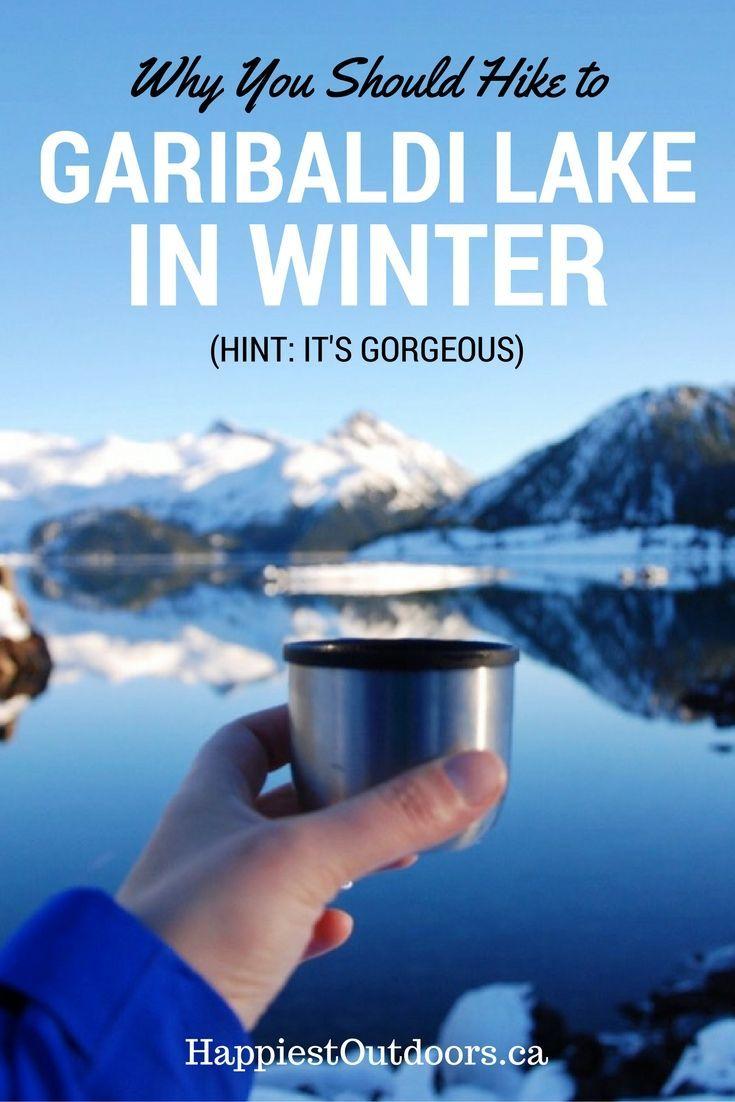 Hike to Garibaldi Lake in winter. Garibaldi Lake is near Squamish BC. Winter hiking in Squamish, BC. Snowshoe to Garibaldi Lake. Winter at Garibaldi Lake.