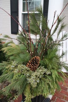 Christmas Urn Decorations For Outdoors Best 25 Christmas Urns Ideas On Pinterest  Christmas Planters