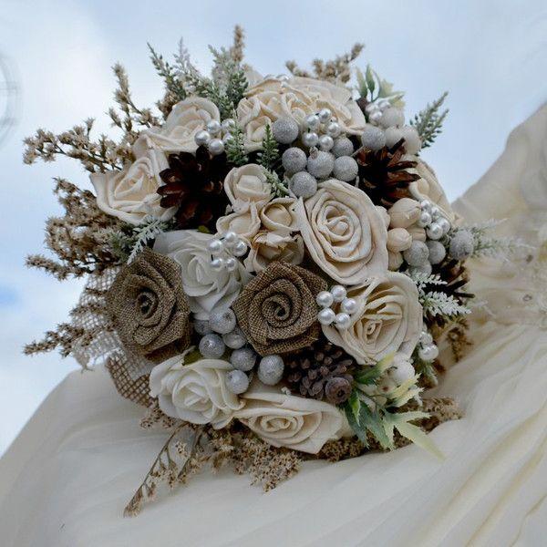 Accessoires - Brautsträuße Fabienne und anstecker - ein Designerstück von Wandadesign bei DaWanda