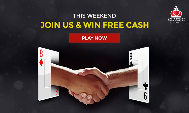 This Weekend Join Us and Win Free Cash. Play Now!	    #rummy #classicrummy #weekend #onlinerummy #freerummy #rummycards #cardgames #freecash #playrummy #Indianrummy