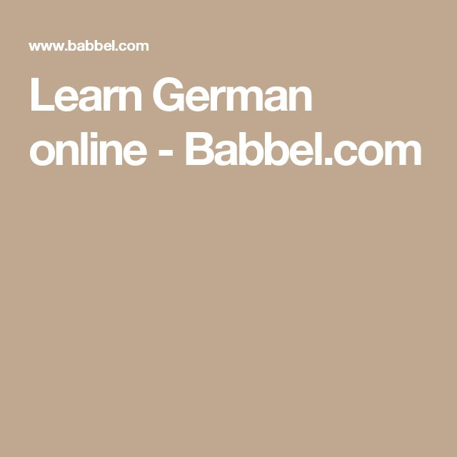 Learn German online - Babbel.com