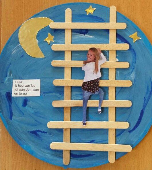 Vaderdag - ik hou van jou tot aan de maan en terug (groep 2) - Juf Esmé