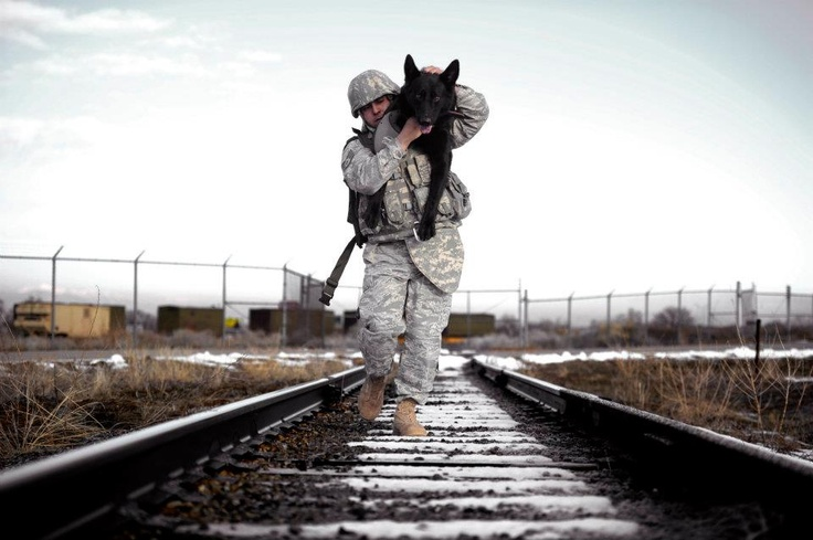 U.S. Air Force Staff Sgt. Erick Martinez, a military dog