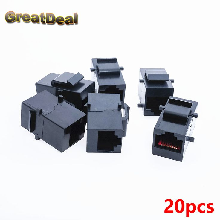 20x Cat5 Cat5e RJ45 Connector Plug Socket RJ45 Network Cable Blank Panel Patch RJ45 Extender Plug Joiner Coupler Adapter HY445