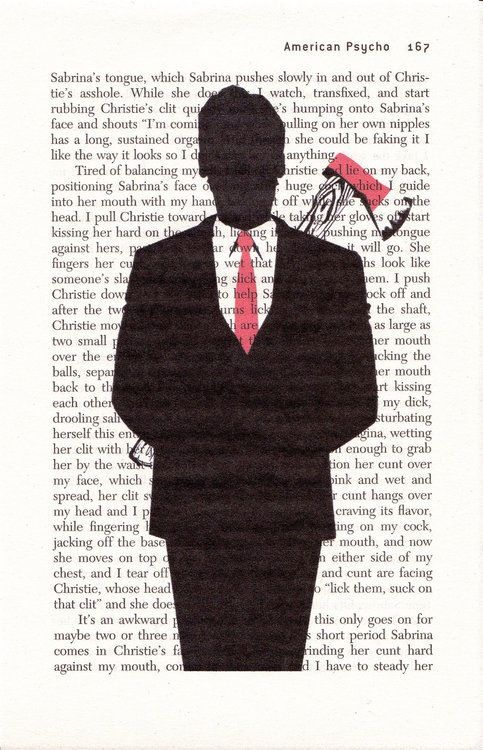 American Psycho, Patrick, Bateman, Axe, Book