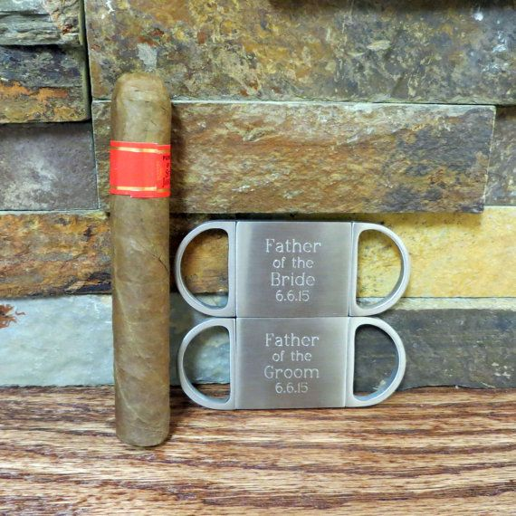 Personalized Cigar Cutter - Guillotine Cutter - Father of the Bride Gift- Father of the Groom Gifts (GC155)