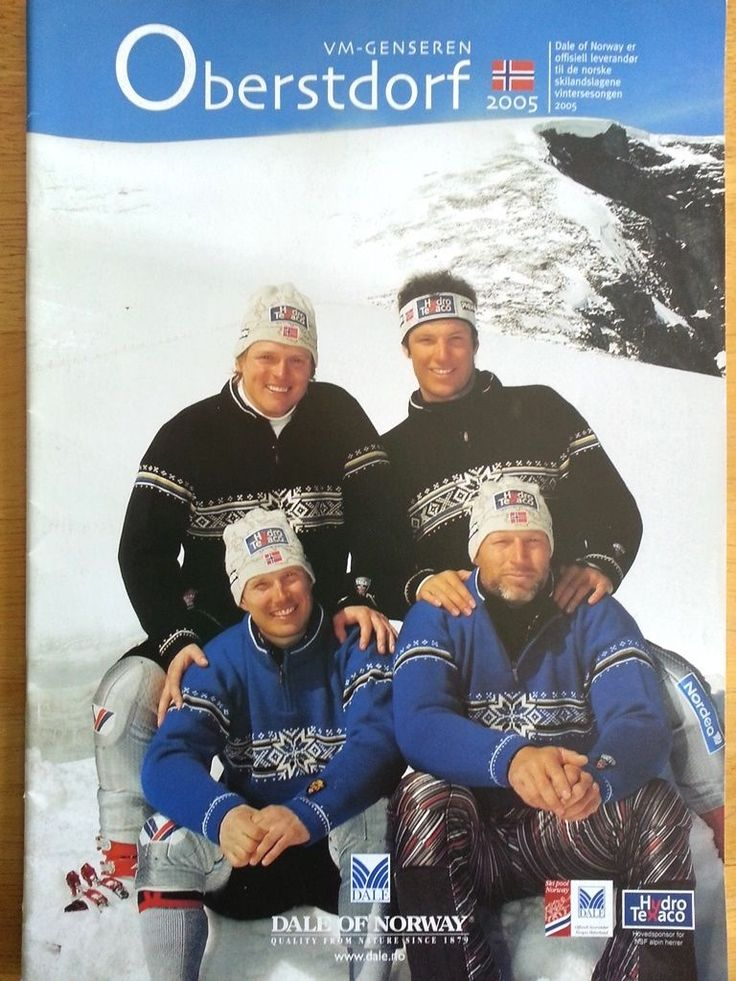 Dale of Norway Oberstdorf 2005 Norwegian Ski Team Knitting Pattern Book | eBay