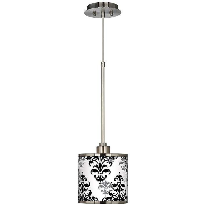 Damask Shadow Giclee Glow Mini Pendant Light - #T6312-3P341 | Lamps Plus