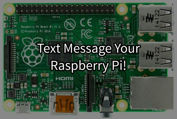 Text controlled Raspberry Pi