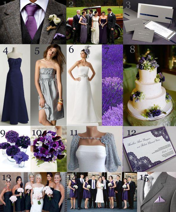 Purple and Grey Wedding – fashion dresses