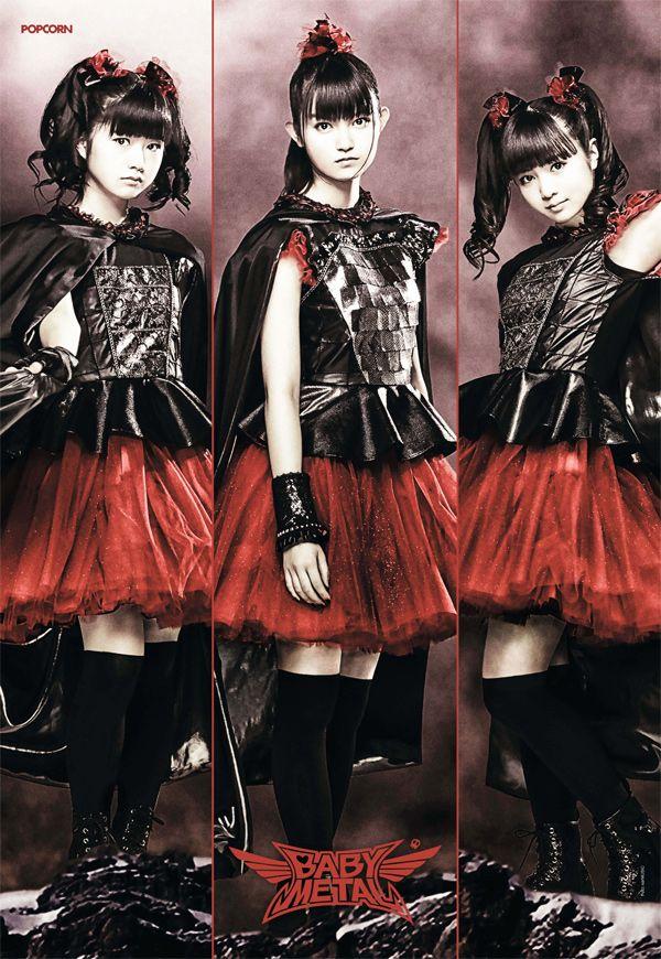 """Poster von """"Baby Metal"""" in der POPCORN 8/2015K-Pop-Fan? Check hier unser großes Special: Alles über K-Pop. Und das sind U-Kiss."""