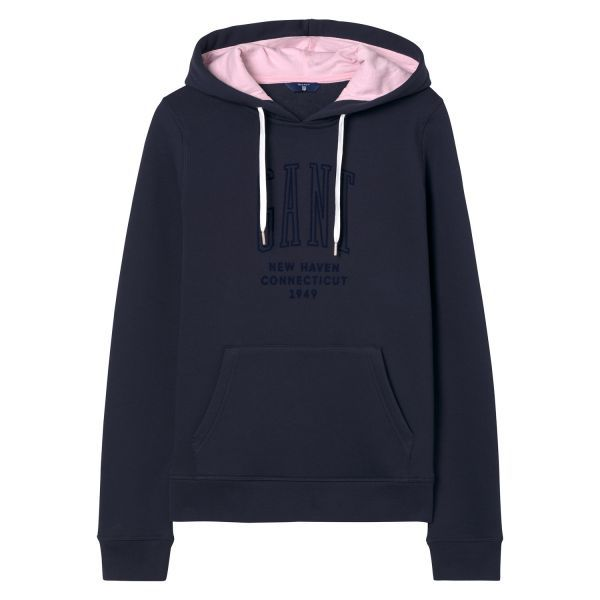 GANT - New Haven Hoodie Evening Blue for women | Offisiell nettside  Pris 1'100,-