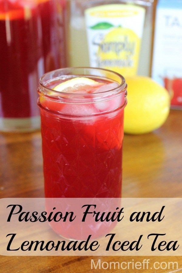 Passion Fruit and Lemonade Iced Tea.  Refreshing, lower calorie and non-carbonated.  Yum!  I've been told this is a Starbuck's copycat recipe.
