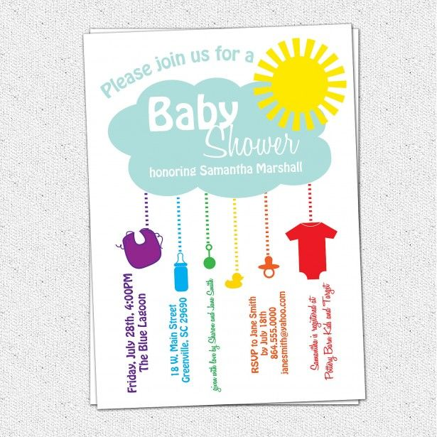31 best Invitations images on Pinterest Baby shower invitations - baby shower invitation templates for microsoft word