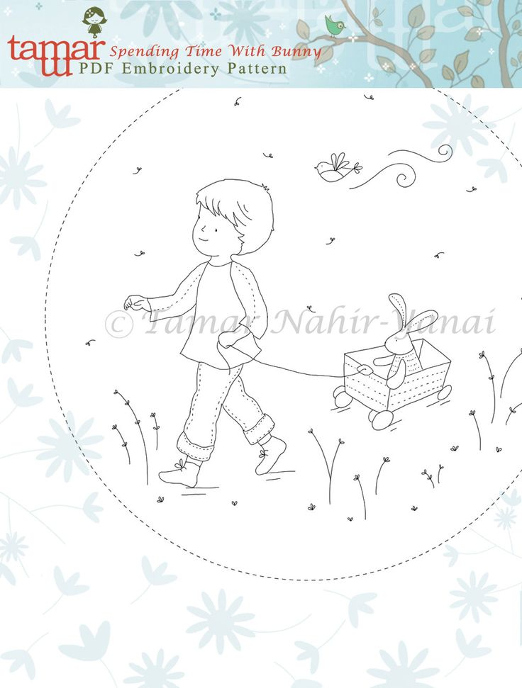 1 of 2 Embroidery Pattern Instant Download Spending by TamarNahirYanai