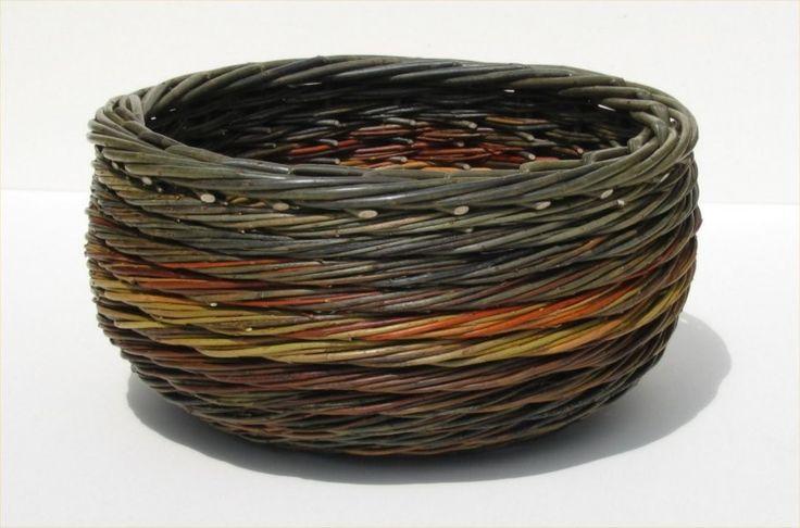 Traditional Baskets - Joe Hogan Basket Maker - Traditional Irish Willow Baskets - Curly Weave Bowl