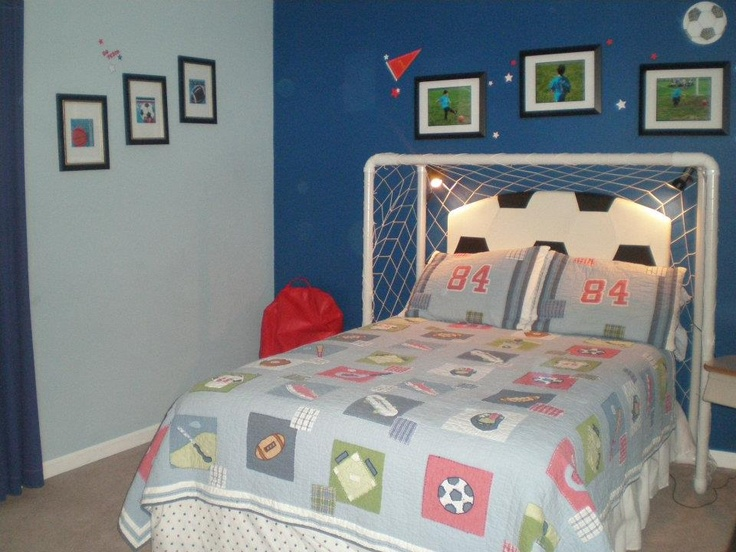 Boys Soccer Bed It Was A Huge Hit Goal Soccer Bed Room Pinterest Soccer Boys And Beds