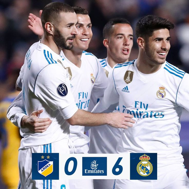 FT: APOEL FC 0-6 Real Madrid C.F. (Luka Modrić 23', Karim Benzema 39', 45'+1', Nacho Fernández Iglesias 41', Cristiano Ronaldo 49', 54'). We're through to the last-16 of the Champions League! ¡Estamos en octavos de final de la Champions!