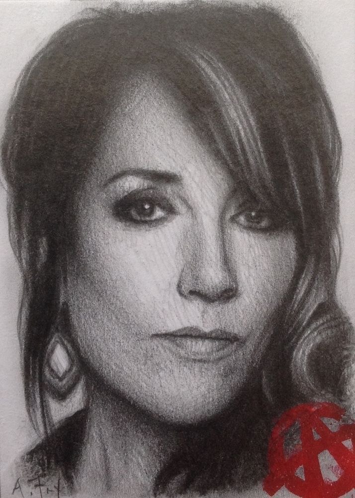 CRYPTOZOIC SONS OF ANARCHY SKETCH CARD OF 'GEMMA TELLER MORROW' BY ANDY FRY.