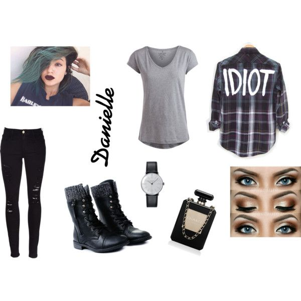 metal,punk,rock by larry69czech on Polyvore featuring Pieces, Frame Denim and Klein & more