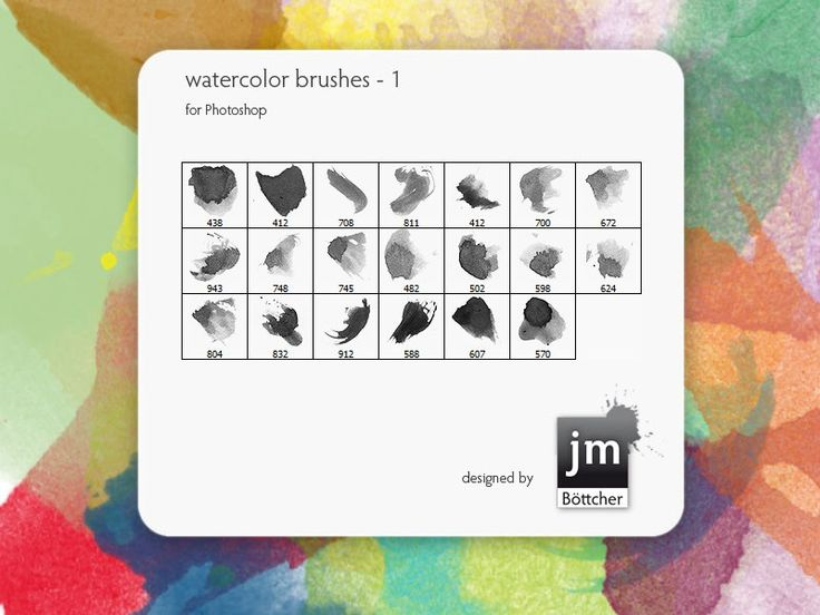 Free Ink and Watercolor Brush Sets for Photoshop