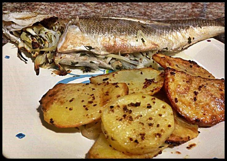 fırında levrek ve hardal soslu patates