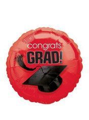 Red Graduation Balloon – Congratulations Graduate