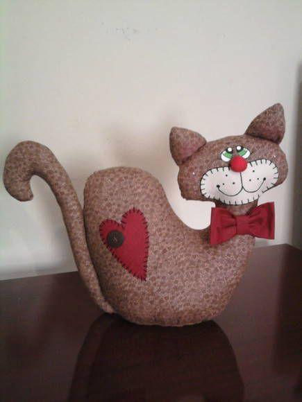 Peso de Porta Gato Coração