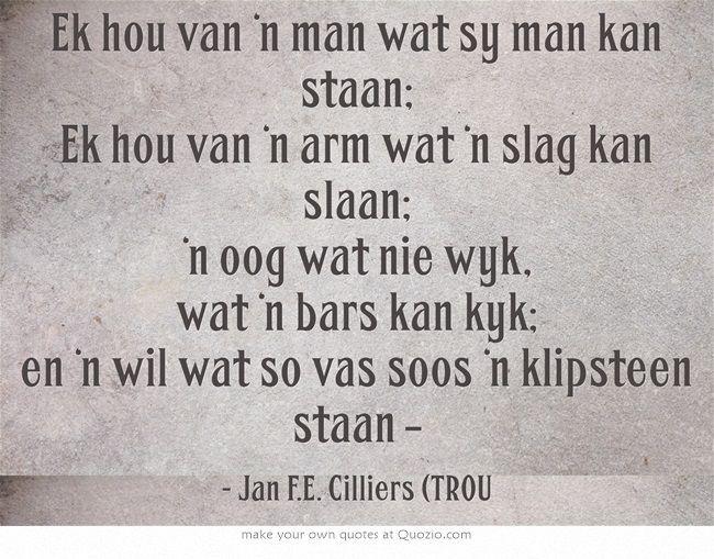 Afrikaans poetry …