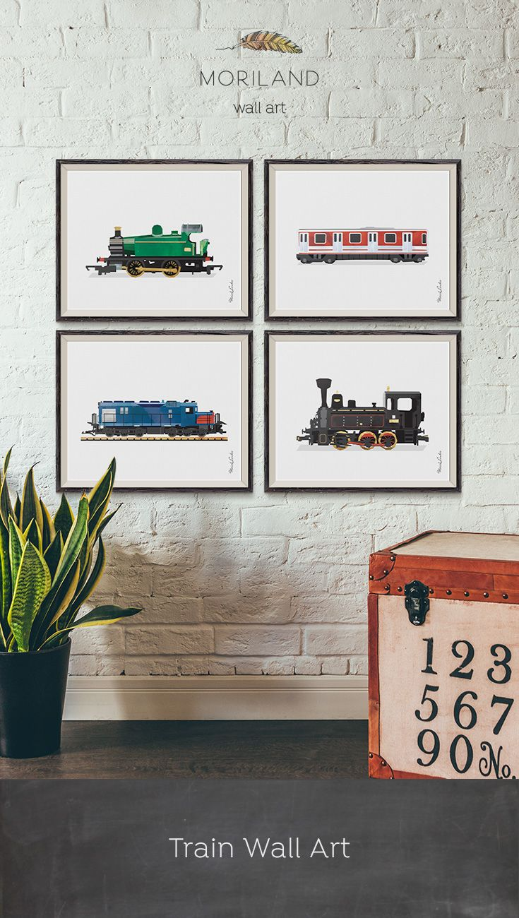 Steam Train Print Train Printable Nursery Print Transportation