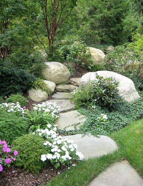 Gjuta naturlika stenar på plats