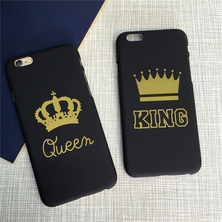 Brand New Fashion King Queen Hard Plastic Ultra Thin Back Cover for Apple iPhone 6 6s 5 5s SE Luxury Crown Slim Phone Case Shell #clothing,#shoes,#jewelry,#women,#men,#hats,#watches,#belts,#fashion,#style