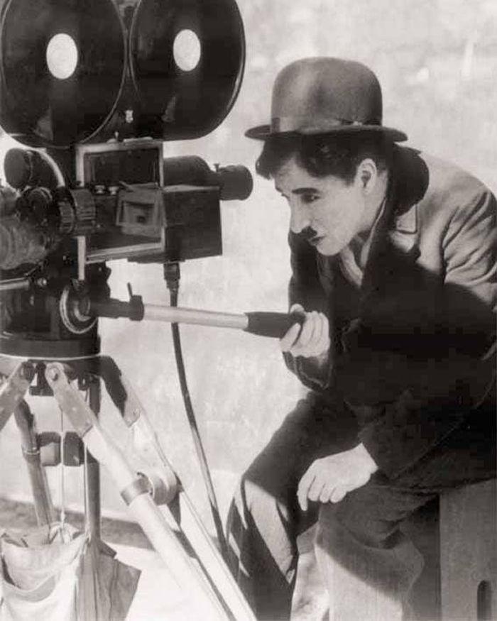 Charlie Chaplin filmando-for Rachel!!