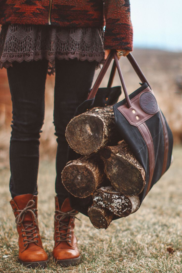 www.duluthpack.com | It's bonfire season. Do it right this year with the #duluthpack  Log Carrier.