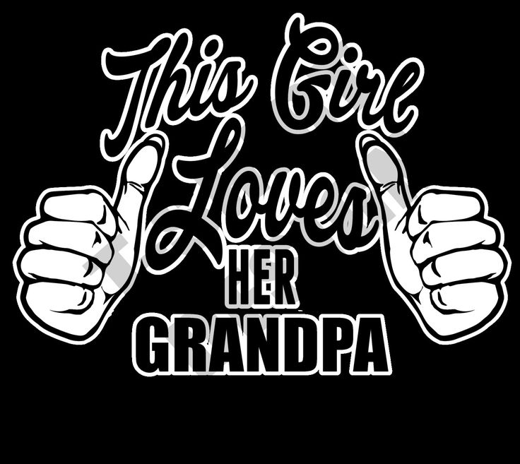 This Girl Loves Her Grandpa - PNG T-shirt design by MugsAndAccessories on Etsy
