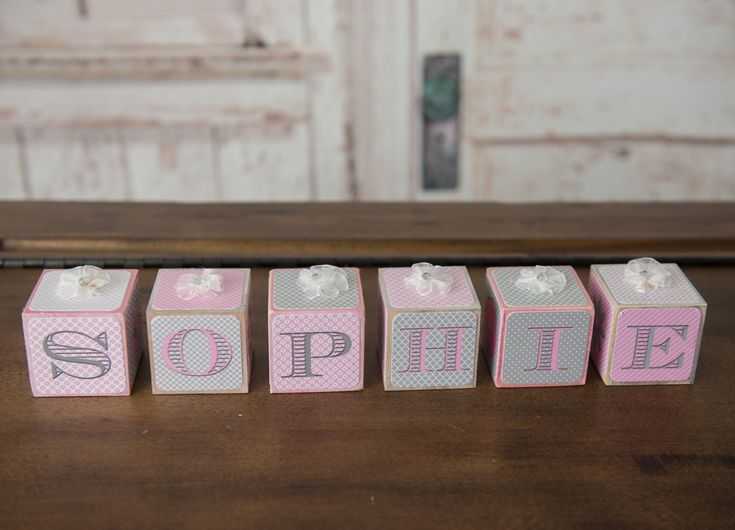 Baby Name Blocks - Nursery Name Blocks - Girls Name Blocks - Baby Shower Gift, Paisley name blocks - Pastel name blocks by knockyourblocksoff on Etsy