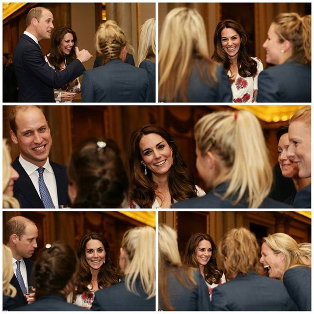 "Yesterday, The Duke and Duchess of Cambridge with other members of the royal family at a reception at Buckingham Palace for Team GB and Paralympics GB medallists from the 2016 Rio Olympic and Paralympic Games. The Duchess of Cambridge revealed that Princess Charlotte loves riding and horses and Prince George is fascinated by fencing. Equestrian triple-gold medalist Natasha Baker had a good chat with Kate. The Duchess told her: ""George is fascinated by fencing but I think that's because of…"