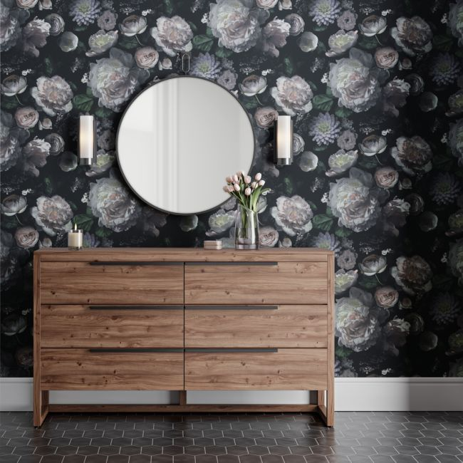 Tempaper Moody Floral Removable Wallpaper Crate And Barrel In 2020 Removable Wallpaper Crate And Barrel Home Wallpaper