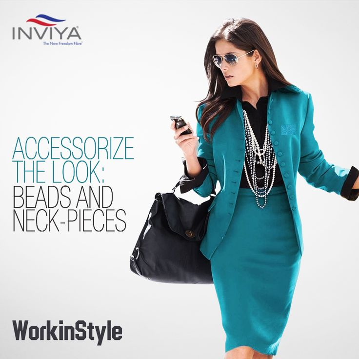 If there is a way to boost up your spunk factor, it is through pretty beads and cute neck pieces. #INVIYA® #WorkinStyle #Beads #NeckPieces