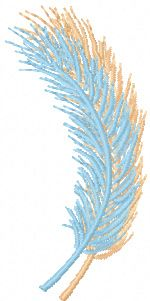 Feathers free machine embroidery design