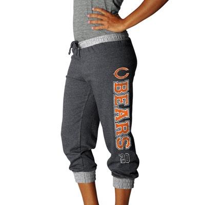 Chicago Bears Charcoal Women's Sport Princess II Cropped Fleece Pant