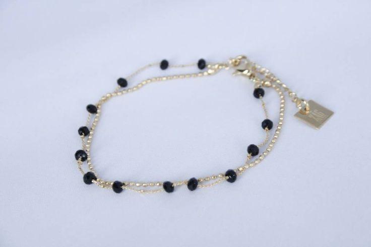 ZAG Bijoux sieraden - Armband zwart / goud - Made by Mila - sieraden en meer
