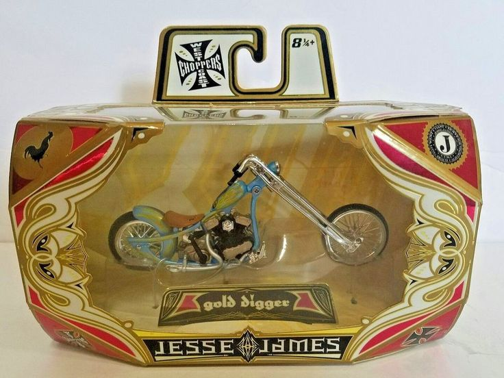 Jesse James West Coast Choppers 2006 Gold Digger Scale Model Motorcycle NEW #MGAEntertainment #westcoastchoppers