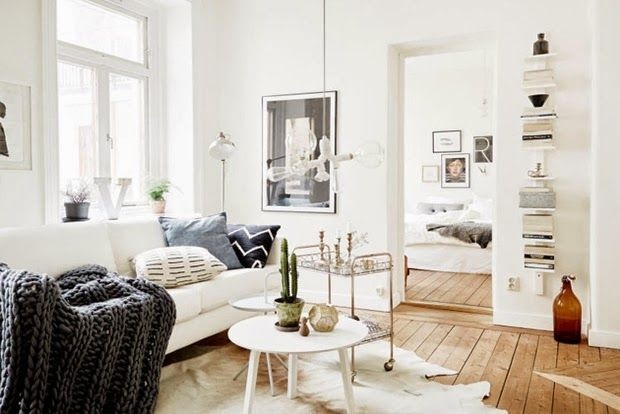 Coziness and Simplicity in a Small Scandinavian Apartment | design attractor | Bloglovin'