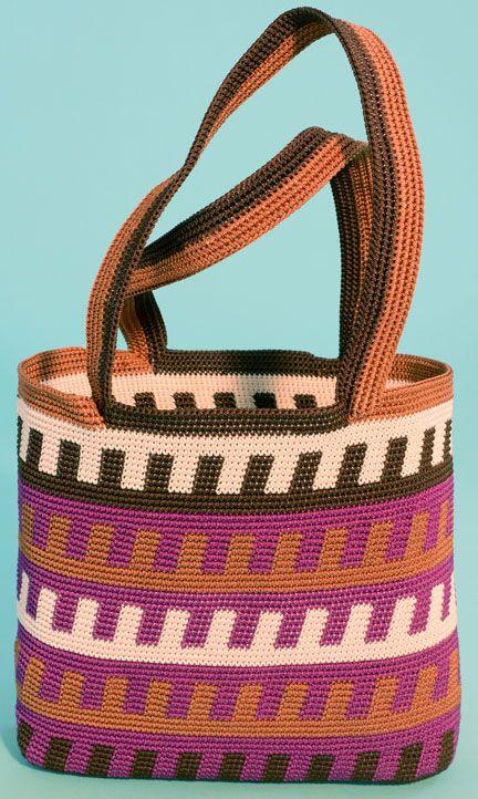 Leftover Bag Tapestry #Crochet Purse