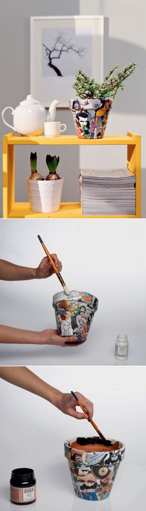 DIY Planter With Paper