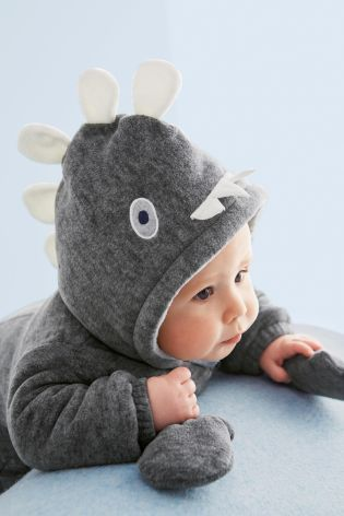 Grey Dino All-In-One (0-18mths) from Next