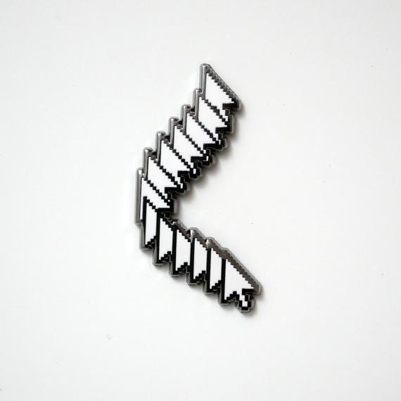 Frozen Arrow Aesthetic Enamel Pin –  Aesthetic Vaporwave Accessories
