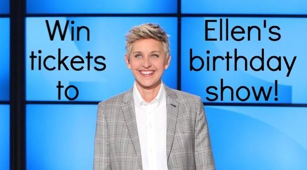 Click twice on the photo for your chance to win tickets to Ellen's birthday show! Now that would be pretty BOGOLicious!